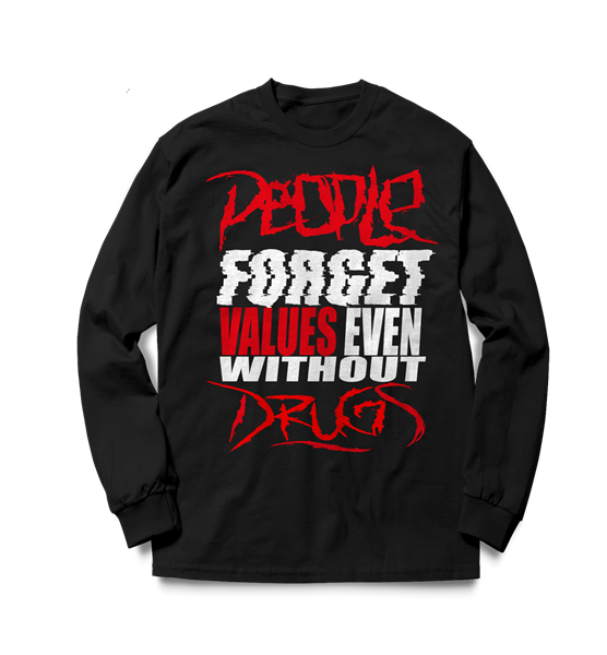 Picture of PEOPLE FORGET - SWEATER (schwarz)
