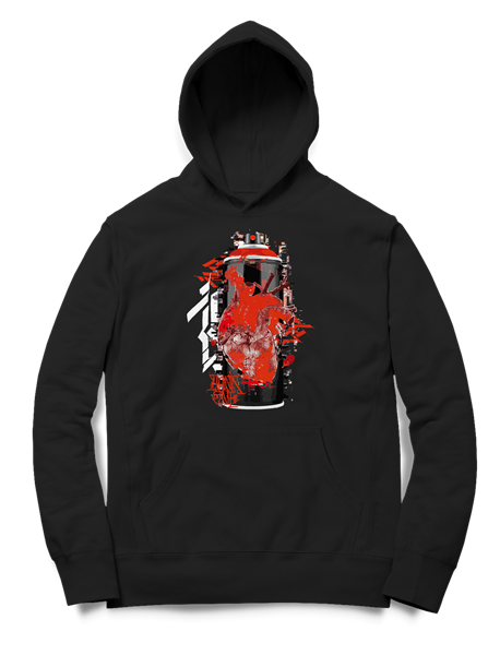 Picture of GRAFFITI CAN - HOODY (schwarz)